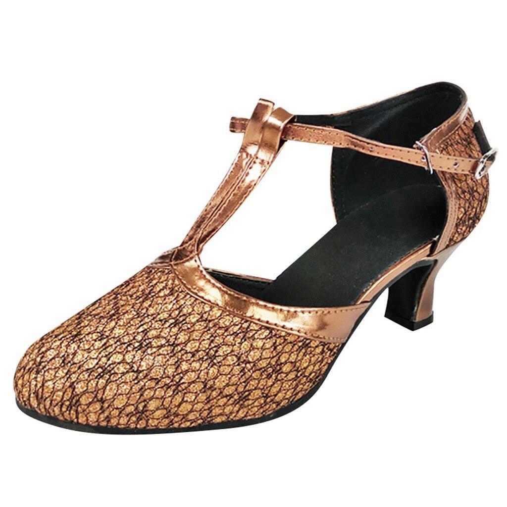 Jaycosin per adulti di sesso femminile scarpe da ballo Latino scarpe Baotou di alta scuola con scarpe con suole morbide scarpe da ballo quadrati delle signore dellalto tallone sandali cinghieJaycosin per adulti di sesso femminile scarpe da ballo Latino scarpe Baotou di alta scuola con scarpe con suole morbide scarpe da ballo quadrati delle signore dellalto tallone sandali cinghie