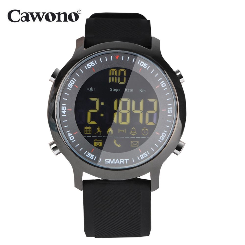Cawono <font><b>EX18</b></font> 5ATM Waterproof <font><b>Smart</b></font> <font><b>Watch</b></font> Pedometer Tracker Call reminder Bluetooth 4.0 Wristwatch SmartWatch for IOS Android image
