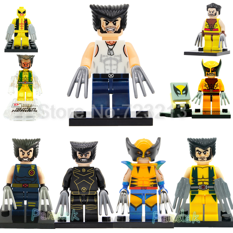 Marvel Wolverine Figure Single Sale X-Men Super Hero Building Blocks Sets Models Bricks Legoingly Toys for Children single sale decool 0250 0255 captain america figure civil war building blocks marvel hero models toys