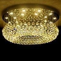 Z led хрустальный потолок лампа Спальня свет творческий ресторан Messenger Провода современный двойной круговой Лампы для мотоциклов и Фонари