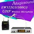 Top Quality! Professional EW322 G3 EW 322G3 True Diversity Headset Wireless Microphone EW300 G3 UHF Wireless Mic System