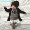 Líder urso 2016 Primavera Do Bebê Meninos Conjuntos de Roupas de Bebê de Algodão Longo-Carta de manga comprida T-shirt + Calças Recém-nascidos Meninas do bebê Conjuntos de Roupas