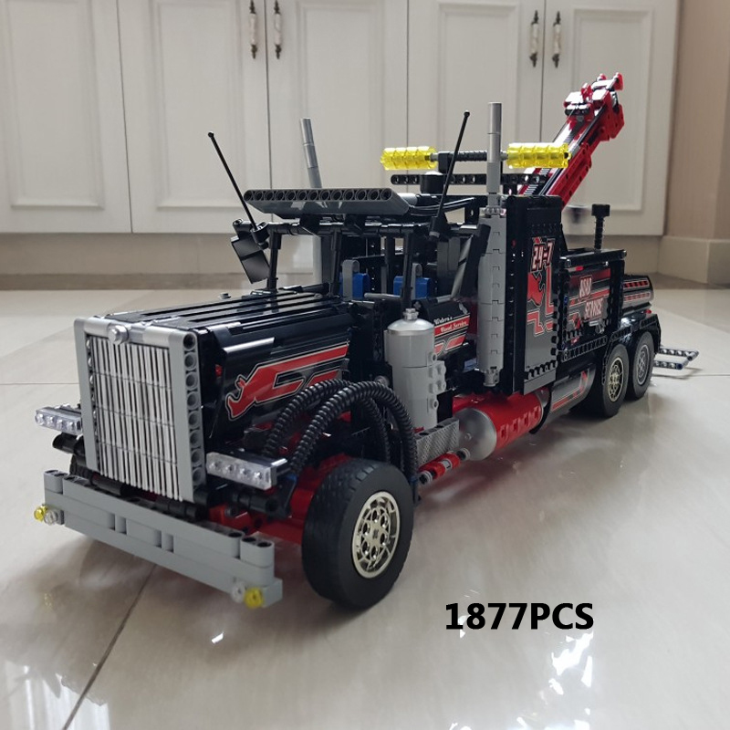 Classic Technician technics heavy tow truck building block model assemblage bricks 8285 toys collection for gifts hot technician technics extreme adventure 2in1 building block model tracked vehicle bricks 42069 toys collection for kids gifts