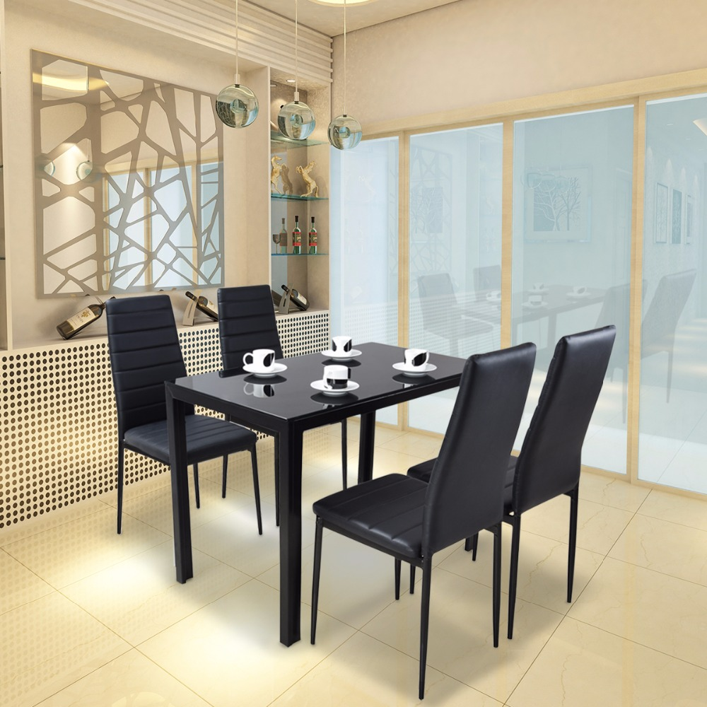 Tempered Glass Dining Table For 4 Dining Room Furniture