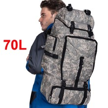 Hombres 70L bolsa de escalada deportiva mujeres ejército mochila de viaje de excursión que acampa impermeable caza militar molle mochila táctica