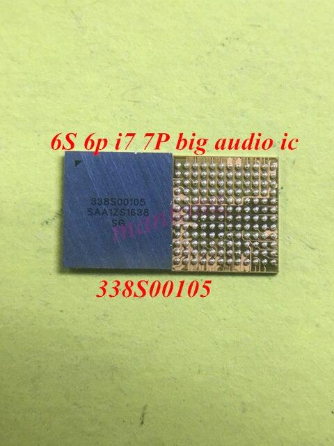 10 ชิ้น/ล็อต 338S00105 แหวนเสียงชิปICสำหรับiPhone 6S 6s plus 7 7Plus