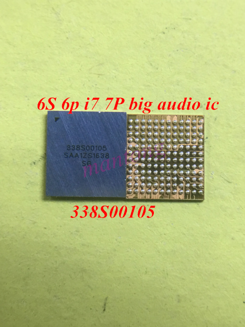10 pçs/lote 338S00105 grande anel de áudio chip IC para o iphone 6s 6s-plus 7 7plus