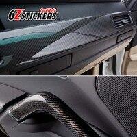 6zstickers 30CMx200CM 5D Carbon Fiber Vinyl Car Wrap Film Automotive Interior A B C Column Leaf