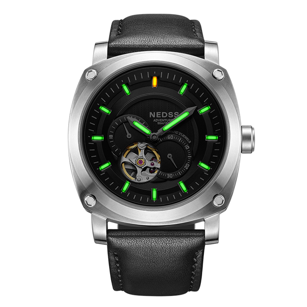 2018 NEDSS Tritium Mechanical Watches Miyota automatic watch Military wrist Watches Chronograph Relojes Masculino 50M waterproof alike 2015 50m relojes 14109