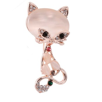 Cartoon Cat Brooch Enamel Animal Pins  and brooches Badge Jacket Bags lovely Lapel pin Fashion Jewelry