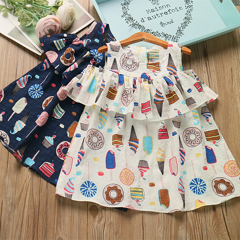 Cream color dress for toddlers