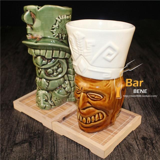 US $25 79 10% OFF|Cocktail Cup Beer Shaker Bar Supplies Bartender Flask Bar  Glass Tools Wine Mojito CupTiki Mug Tiki Hawaiian Ceramic Cup J756-in