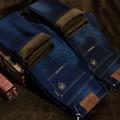 NianJEEP Mens Inverno Engrossar Jeans Stretch Denim Jean Calças de Lã Quente calças Tamanho 32 33 34 35 36 38 40 42 2 cores