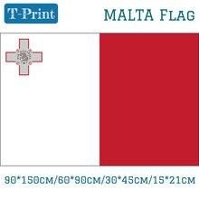 Free shipping Hanging Flag 90*150cm/60*90cm/30*45cm/40*60cm/15*21cm Malta National Flag 3x5 Feet