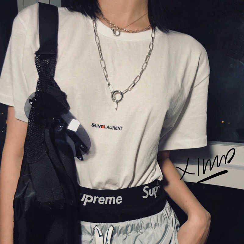 Łańcuch w stylu hip-hop mężczyźni kobiety para naszyjniki naszyjnik wodoodporny Link Curb naszyjnik łańcuszkowy hip hop biżuteria wisiorek naszyjnik łańcuch