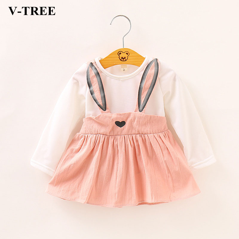 2018 Spring Autumn Girls Dress Todder Dresses For Kids Long Sleeve Children Princess Dress Baby Costume