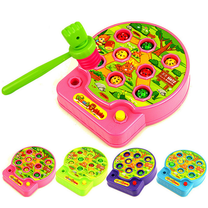 New Hot 4 Types 1 Pcs Baby Toy Mole Hamster Attack Poke Electronic Music Kids Family Game Educational Toy Gift For Children
