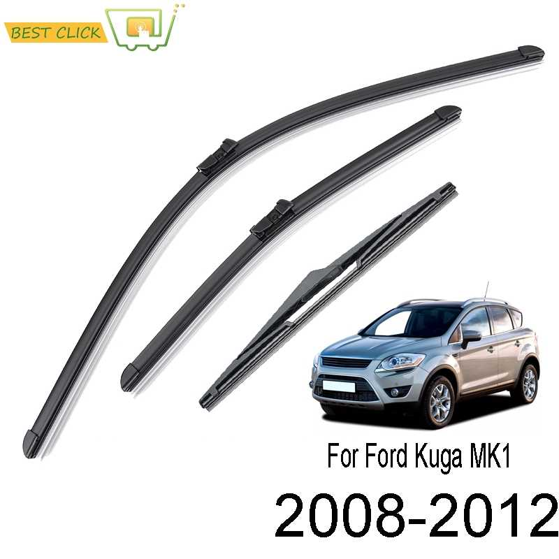 "XUKEY Windshield Wiper Blades Front Rear Set For Ford Edge MK2 15-19 28/""28/""15/"""