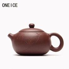 Китайская чайная посуда Исин чайные горшки ручной работы горшок резьба по грязи Xi Shi Чайник Фиолетовый глиняный чайный набор чайные горшки авторский: Чжоу Тин 200 мл