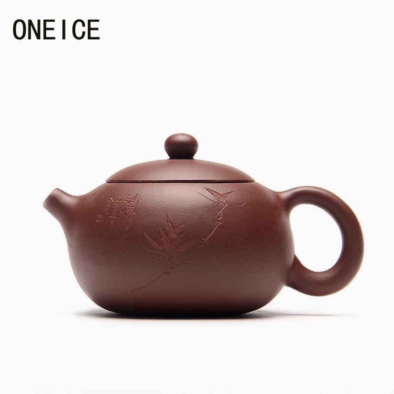 Cinese Yixing Tè, Articoli e Attrezzature Teiere fatto A Mano pentola di Intagliare fango Xi Shi pentola di argilla Viola Tea set teiere Autore: zhou ting Hi Qualità