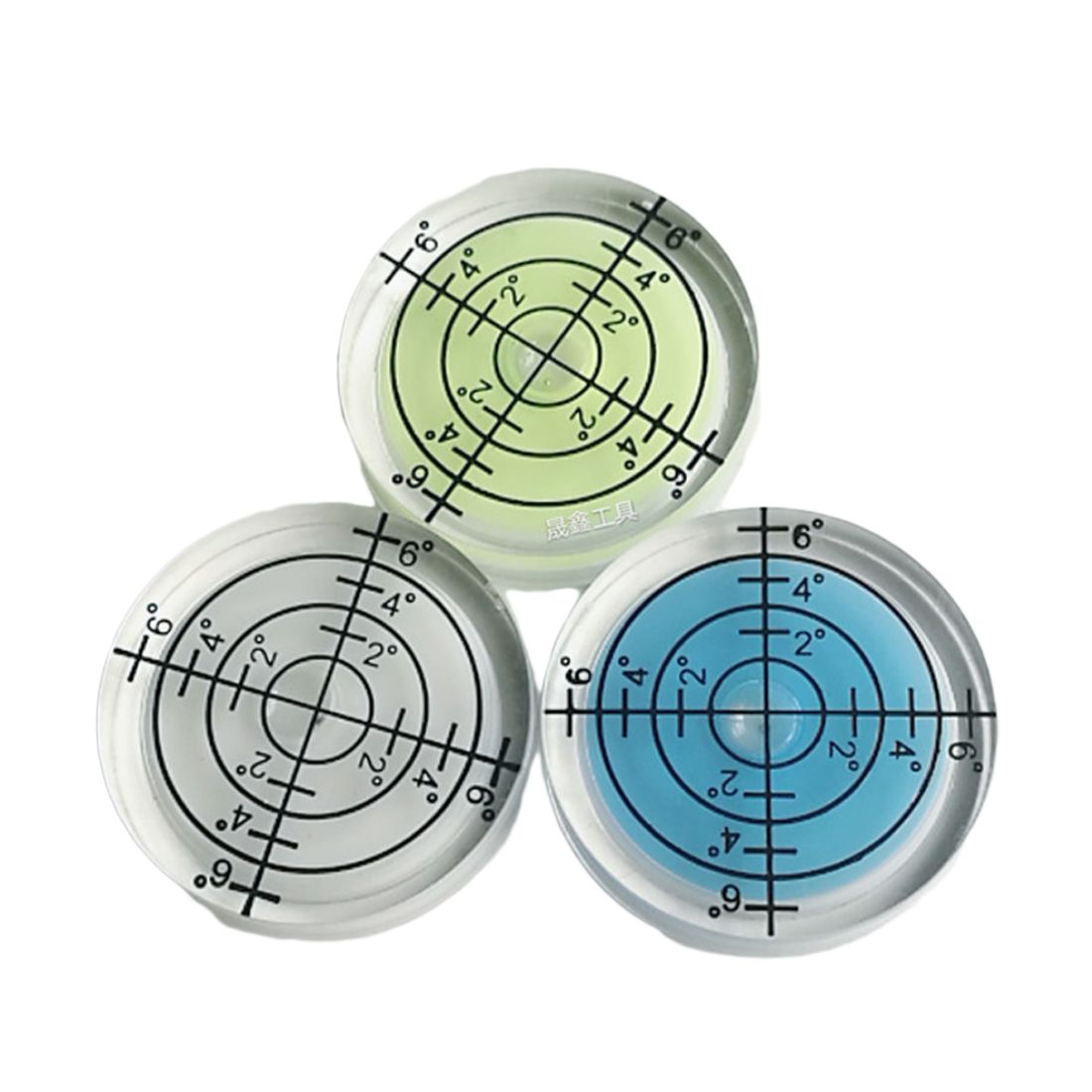 1pcs 32 7MM White Green Blue Color Bull seye Bubble level Round Level Bubble Accessories for