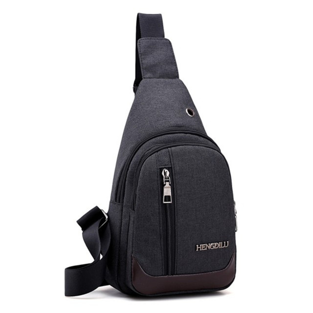 23f14ad28f2d Mochilas men Single Strap Canvas Backpack male casual one shoulder triangle  backpack cross-body chest bag free holograms