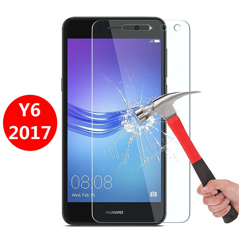 Tempered Glass for Huawei Y6 2017 Screen Protector 9H 2.5D <font><b>Phone</b></font> <font><b>Protection</b></font> <font><b>Film</b></font> for Huawei Y6 2017 Tempered Glass MYA L11 L41