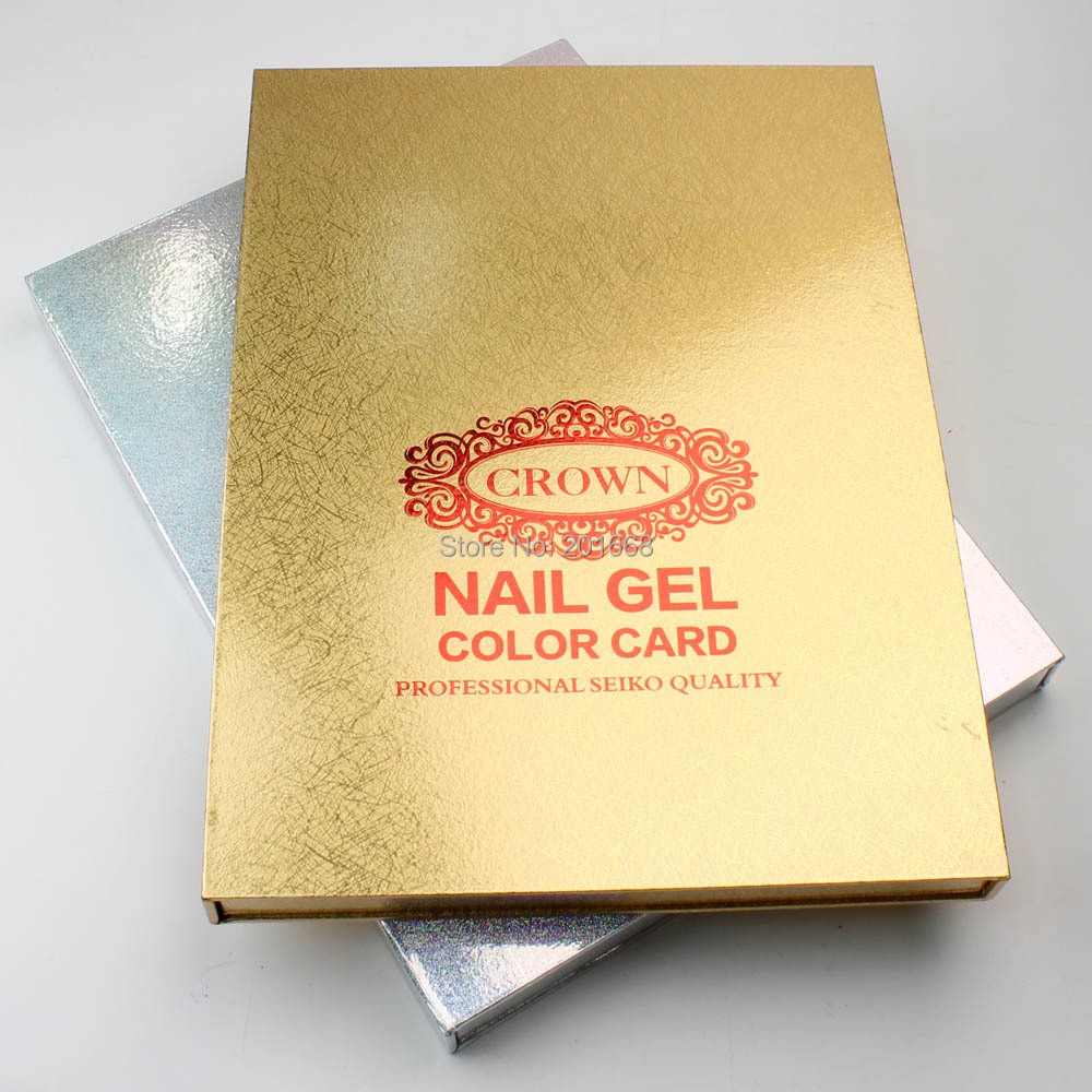 Golden silver crown 216 colors professional nail gel polish golden silver crown 216 colors professional nail gel polish display book chart for nail art salon nail art uv gel color card in nail gel from beauty nvjuhfo Images