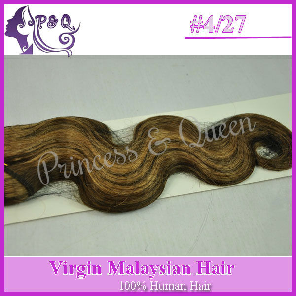 Fashion Dark Brown Hair Blonde Highlights Color 427 Virgin