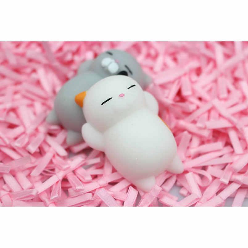 Мягкий милый мягкий Кот антистресс декомпрессионная игрушка Jumbo медленно поднимающаяся забавная игрушка для снятия стресса squexies Squeeze телефон ремни брелок игрушки