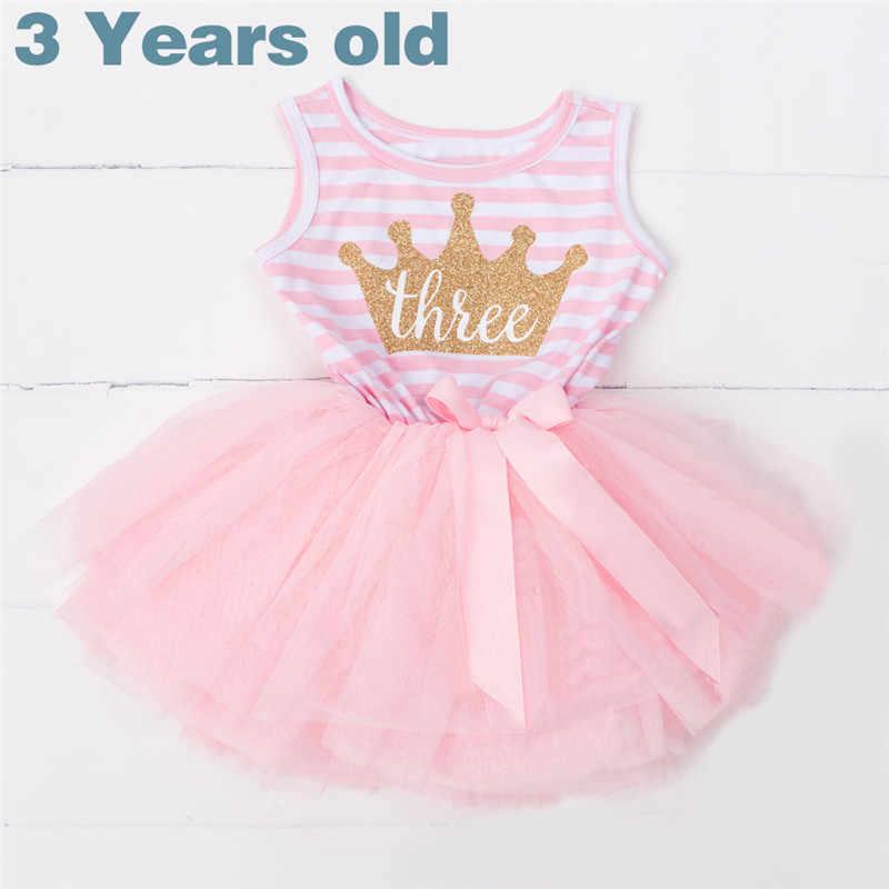 5f6aa7f483802 Mi bebé 3rd cumpleaños vestido de fiesta verano bebés niños Vestidos  vestido Casual para niña niños