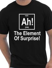 Element Of Surprise Periodic Table Nerd Geek Science Mens T Shirt More Size and Colors-A176