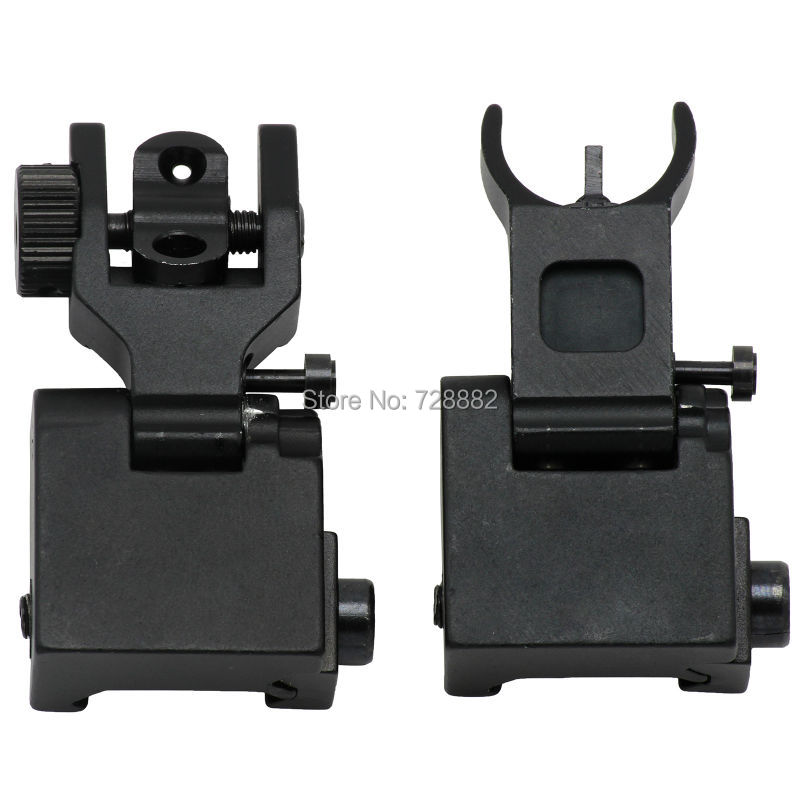 ФОТО Tactical Front and Rear Sights Iron Sights Folding Back-up Battle Sights For Hunting  Free Shipping