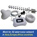 Полный комплект Интеллектуальный ЖК-дисплей 3 Г 2100 МГЦ сигнал Повторителя сотовый усилитель сигнала усилитель работа для России... и т. д. азии, Европы