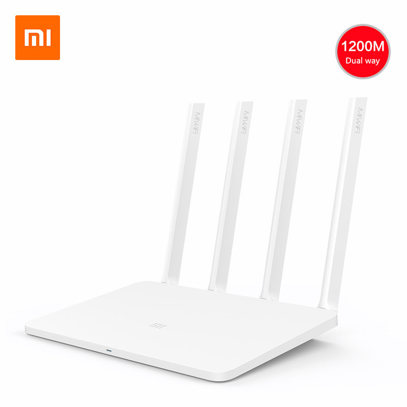 все цены на Original Xiaomi Wifi Router 3 128M Nand Flash 4 Antenna 11AC Roteador Dual Band 2.4G/5G 867Mbps USB With English Mi WiFi APP онлайн