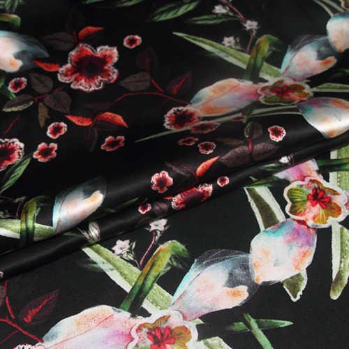 דיגיטלי הזרקת דיו למתוח משי סאטן בד פנסי חולצה שמלת משי בד סאטן טבעי משי בד חומר סיטונאי משי בד