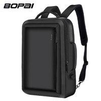 BOPAI Multifunction Backpack Enlarge Anti Theft Laptop Backpack USB External Charge 15 6 Inch Men School