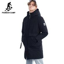 Pioneer camp nuevo invierno largo abajo chaquetas marca ropa moda caliente pato blanco abajo calidad encapuchado abajo parkas AYR801409