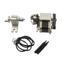 CNC Rotary A Axis chuck 50mm activity tailstock for CNC Router Engraver Milling Machine