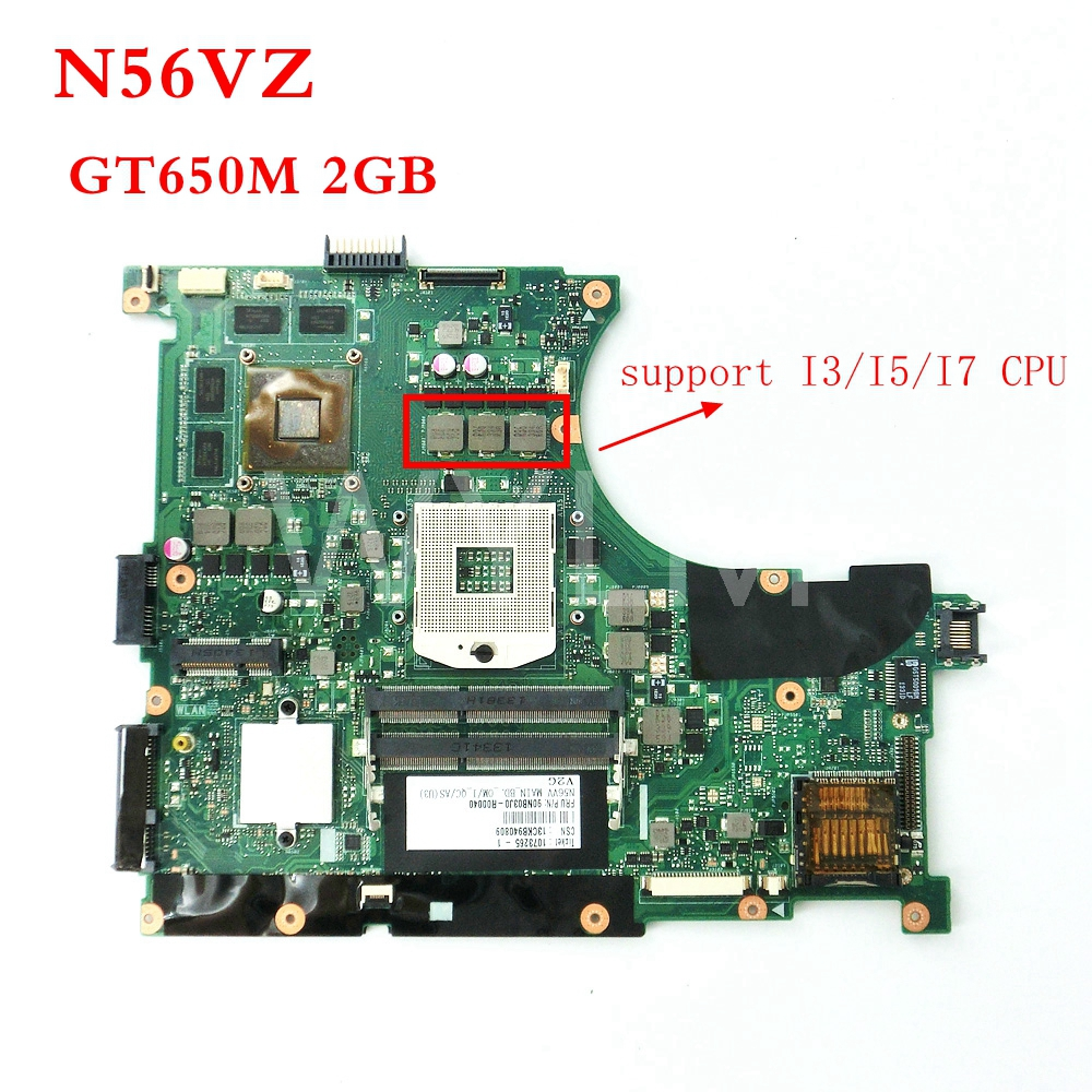купить N56VZ GT650M 2GB REV2.3 mainboard For ASUS N56VZ N56VM N56V N56VJ N56VV N56VB Laptop motherboard 60-N9IMB1100-D18 по цене 3992.51 рублей