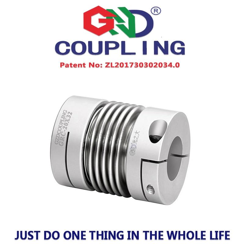 Flexible coupling 5mm shaft diameter high torque generator metal bellows servo motor spring quick-bellow aluminum alloy couples d40mm setscrew hard alloy flex metal bellow coupling