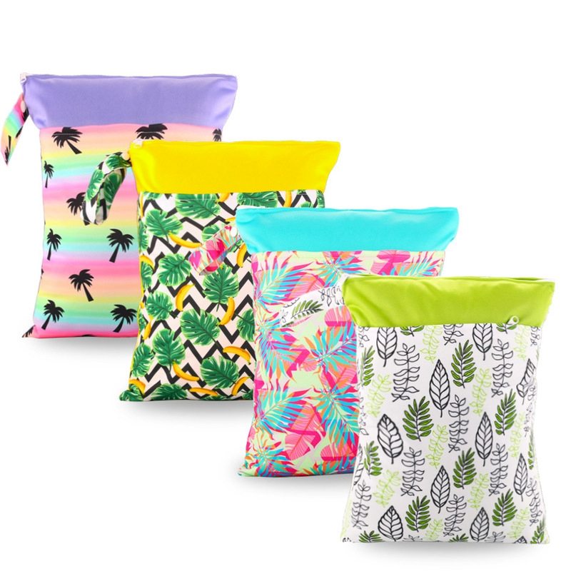 Angemessen Baby Druck Windel Tasche Kinderwagen Zubehör Neugeborenen Babys Reusable Mode Wet Dry Windel Tasche Kleinkind Wasserdichte Lagerung Taschen