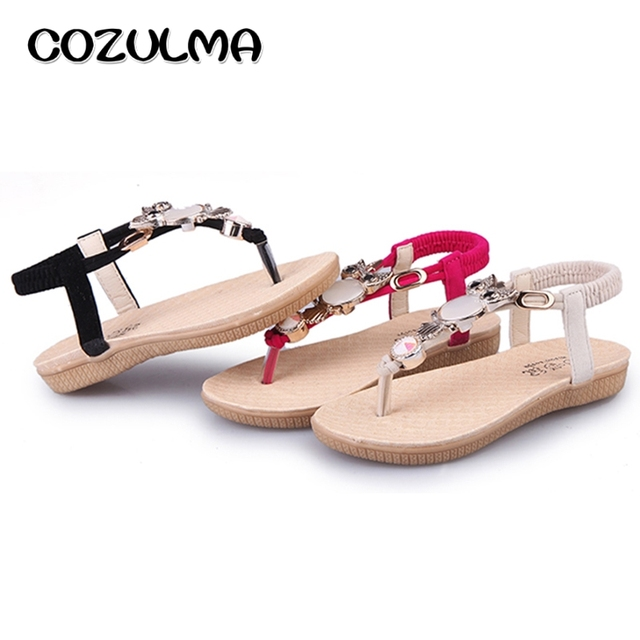 COZULMA Girls Summer Sandals Kids Cute Owl Sandals Girls Rhinestone Flip  Flops Little Kids Big Kids Pearl Shoes Children Shoes 081100df21d3