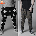 2016 New Casual Baby Pants Spring Autumn Baby Boy Pants Cross Star Harem Baby Girls Trousers