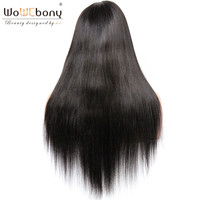 WoWEbony 4*4 Silk Top Human Hair Wig Yaki Straight Silk Base Lace Front Wigs For Black Women