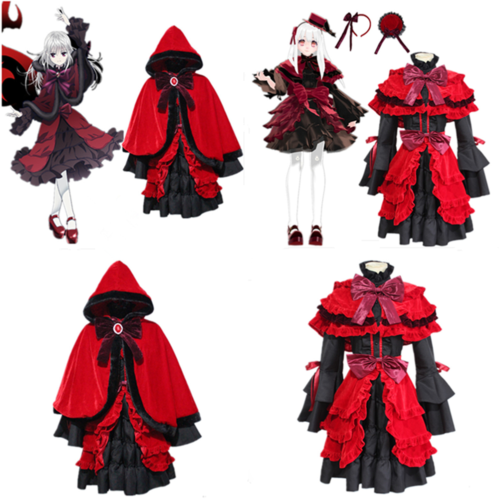 Anime K RETURN OF KINGS Cosplay Costume Kushina Anna Dresses Cosplay Lolita skirt maid outfit cosplay costume Women's dress