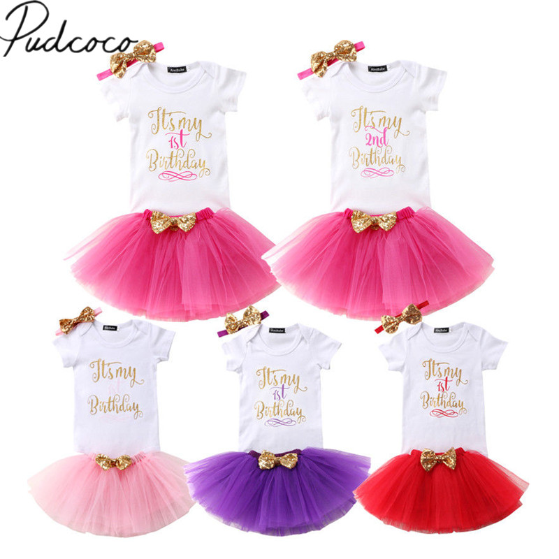 Youngate Baby Girl Print 3pc Costume Party Outfits Bodysuit Headband Ruffle Tutu