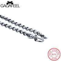Fashion 100 Real 925 Sterling Silver Vintage Retro Cool Punk Necklaces Men Wedding Fine Jewelry Free