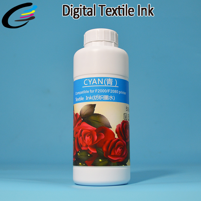 DTG Cotton TShirt Printing Textile Pigment Ink for Epson DX5 Flatbed Printer Head hot sale 1000ml roland mimaki mutoh textile pigment ink in bottle color lc for sale