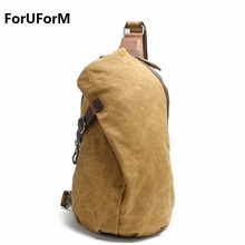 ForUForM Crossbody Bag for Men Messenger Chest Bag Pack Casual Bag Waterproof Canvas Single Shoulder Strap Pack 2017 New LI-1755